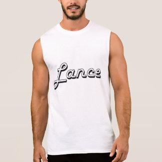 Lance Classic Retro Name Design Sleeveless T-shirts