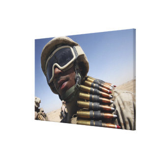 Lance Corporal waits for his turn Canvas Prints
