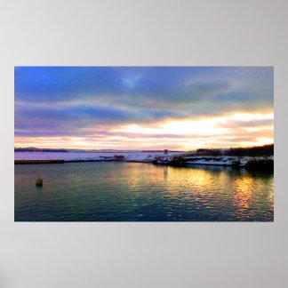 Lance Cove Beach View, Newfoundland Poster