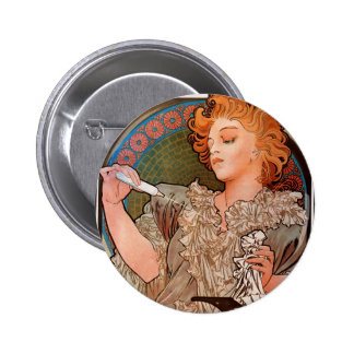Lance parfum Rodo by Alphonse Mucha 6 Cm Round Badge