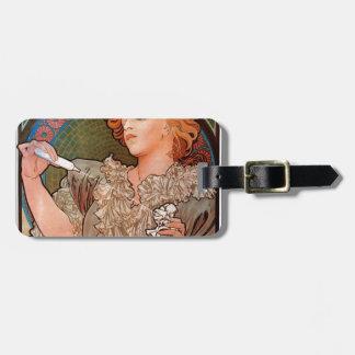 Lance parfum Rodo by Alphonse Mucha Luggage Tag