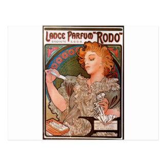 Lance parfum Rodo by Alphonse Mucha Postcard
