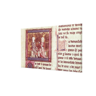 Lancelot and Guinevere sit and talk Canvas Print