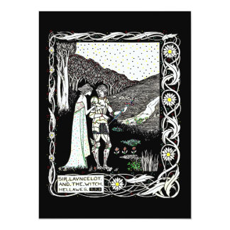 Lancelot and Hellawes the Witch 14 Cm X 19 Cm Invitation Card