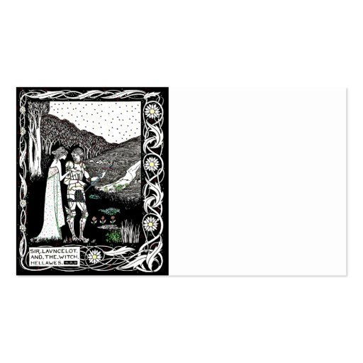 Lancelot and Hellawes the Witch Business Card Templates