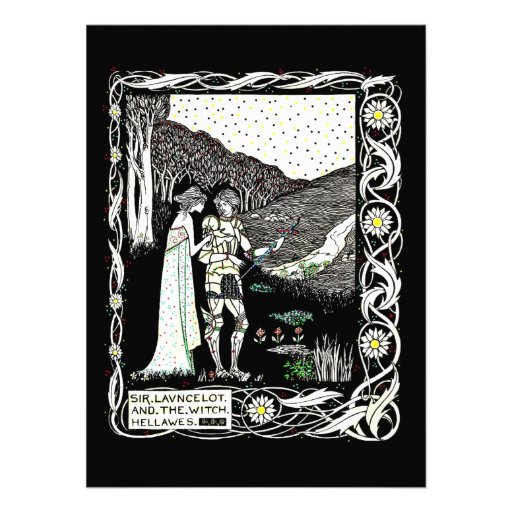 Lancelot and Hellawes the Witch Personalized Invitation