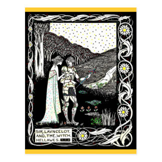 Lancelot and Hellawes the Witch Postcard