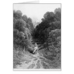 Lancelot approaches the Castle at Astolat Greeting Card