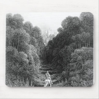 Lancelot approaches the Castle at Astolat Mouse Pad