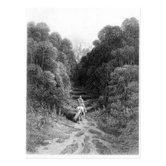 Lancelot approaches the Castle at Astolat Postcard