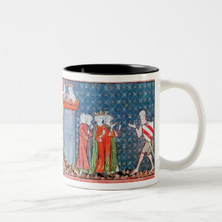 Lancelot proves his love Two-Tone coffee mug
