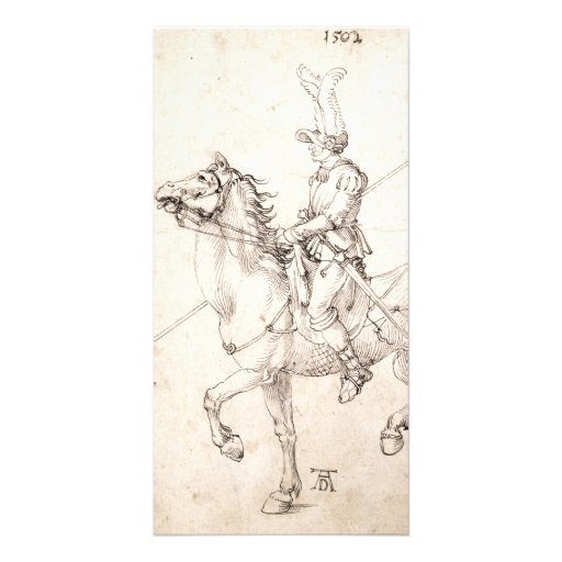 Lancer on Horseback by Albrecht Durer Customized Photo Card