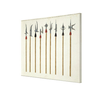 Lances, spears, halberds and partisanes, plate fro stretched canvas print