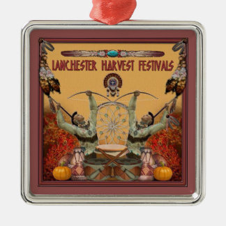 Lanchester Harvest Festivals and PowWow Silver-Colored Square Decoration