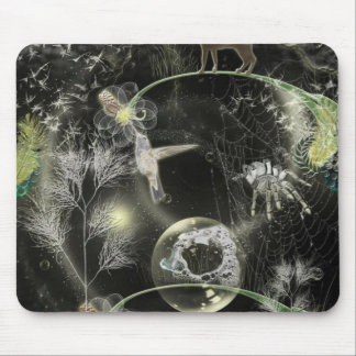 land-380832 WEIRD COLLAGE FANTASY DIGITAL CAT HUMM Mousepad