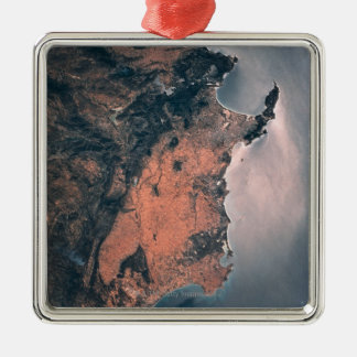 Land and Sea from Space 3 Christmas Ornament