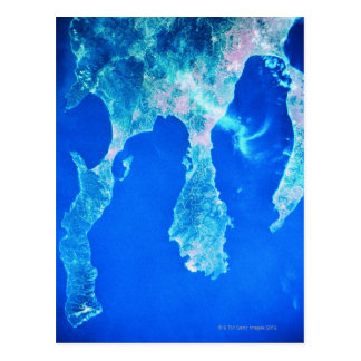 Land and Sea from Space Postcard