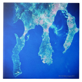 Land and Sea from Space Tile