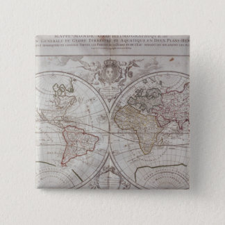 Land and Water Map 15 Cm Square Badge
