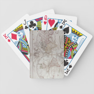 Land and Water Map Bicycle Playing Cards