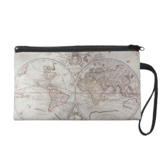 Land and Water Map Wristlet Clutches