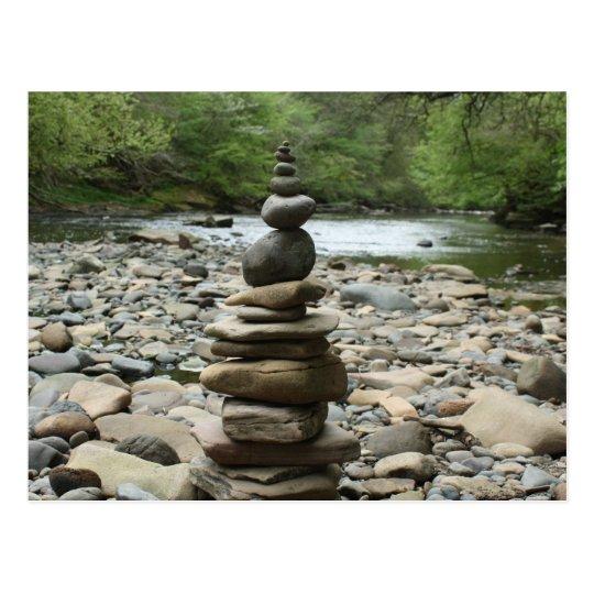 Land Art Sculpture - Cairn - Fine Art Photography Postcard