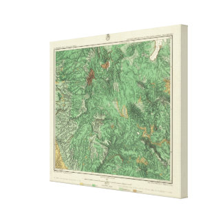 Land Classification Map of California Stretched Canvas Print