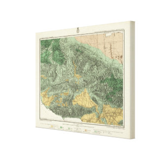 Land Classification Map of California Canvas Prints