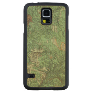 Land Classification Map of California Carved Maple Galaxy S5 Case