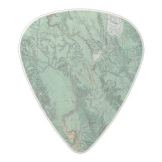 Land Classification Map of Idaho Acetal Guitar Pick