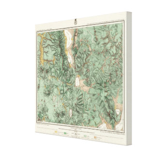 Land Classification Map of Nevada Stretched Canvas Prints