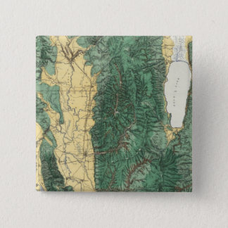 Land Classification Map of North Eastern Utah 15 Cm Square Badge