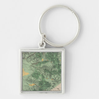 Land Classification Map of Southern California Key Ring