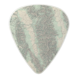 Land Classification of Eastern California Acetal Guitar Pick