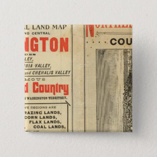 Land grant Washington and Oregon 15 Cm Square Badge