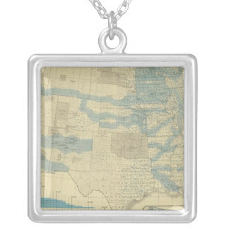 Land grants and railways silver plated necklace