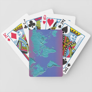 Land Mass Map Bicycle Playing Cards
