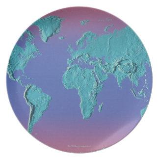 Land Mass Map Plate