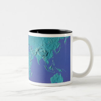 Land Mass Map Two-Tone Coffee Mug