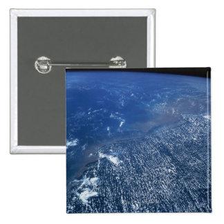 Land Meeting Ocean 15 Cm Square Badge
