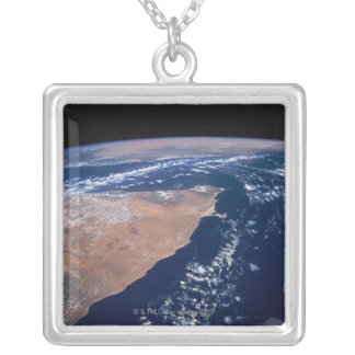 Land Meeting Water on Earth Silver Plated Necklace