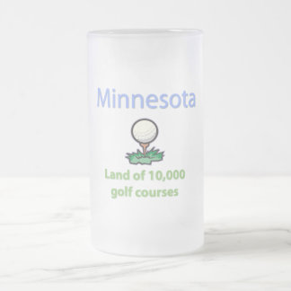 Land of 10,000 Golf Courses Frosted Glass Beer Mug
