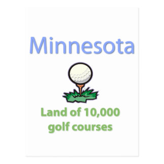 Land of 10,000 Golf Courses Postcard