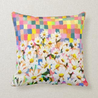 Land of Daisies Throw Pillow