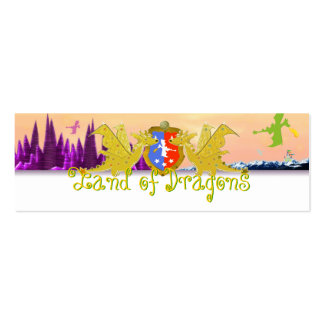 Land of Dragons Name Tag Emma for Kids Business Card Template