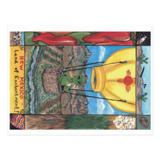 """Land of Enchantment"" New Mexico postcard"