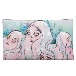 """Land of Girl Head Mountains"" Medium Accessory Bag"