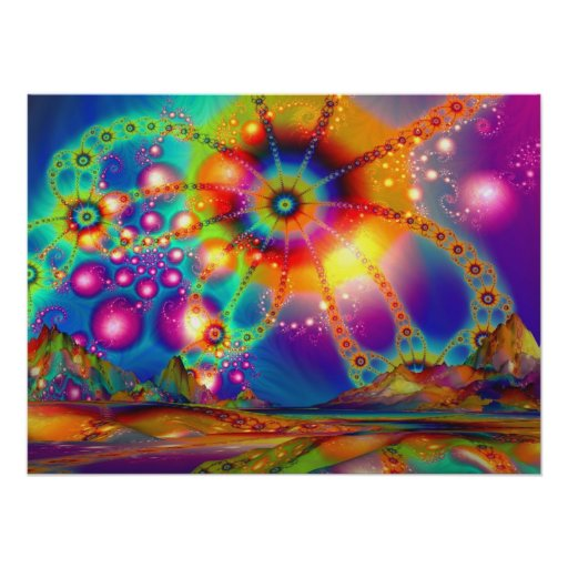 Land of Psychedelic Illuminations - Poster