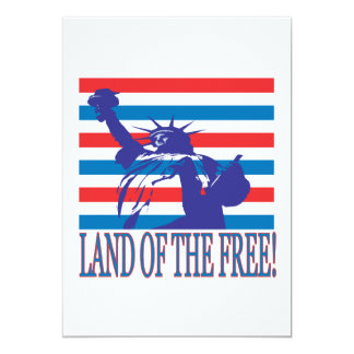 Land Of The Free 13 Cm X 18 Cm Invitation Card