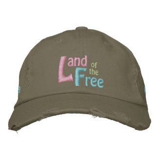 Land of the Free, America is Beautiful Embroidered Baseball Cap